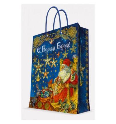 """Пакет подарочный """"Новый год. Мастерская Деда Мороза"""", 33x45,7x10,2 см"""